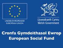 European Social Fund Logo, Menter Training, Cardiff